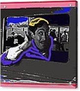 Film Homage Julian Rivero Burn 'em Up Barns 1934 Mascot Serial Collage Screen Capture 2008 Acrylic Print