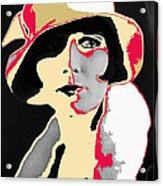 Film Homage Louise Brooks In Flapper Hat 1927-2013 Acrylic Print