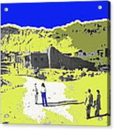 Film Homage Old Tucson Arizona In The Mid 1940's Acrylic Print
