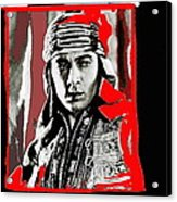 Film Homage Rudolph Valentino The Shiek 1921 Collage Color Added 2008 Acrylic Print