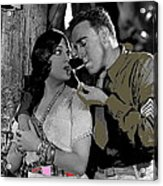 Film Homage Sadie Thompson 1 Gloria Swanson And Raoul Walsh 1927-2014 Acrylic Print