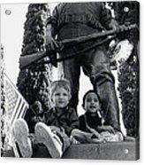 Film Homage Tearing Down The Spanish Flag 1898 Veteran's Day Parade 1984 Armory Park Tucson Acrylic Print