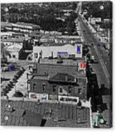 Film Homage Ted Degrazia Cine Plaza Theater  Blue W. Congress Tucson Arizona 1936-2008 Acrylic Print