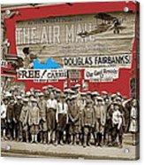 Film Homage The Air Mail  Leader Theater Washington D.c. 1925-2010 Acrylic Print