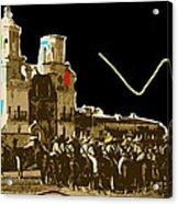 Film Homage The Gay Desperado Set San Xavier Mission Tucson Arizona 1936-2008 Acrylic Print