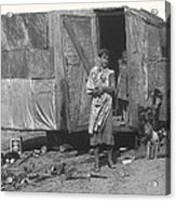 Film Homage The Grapes Of Wrath 1 1940 Family In Shack Perhaps Eloy Arizona 1940-2008 Acrylic Print