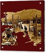 Film Homage The High Chaparral Set Collage Old Tucson Arizona C.1967-2013 Acrylic Print