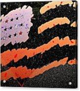 Film Homage The Manchurian Candidate 1962 Flag Car Window Sacaton Arizona 2005 Acrylic Print