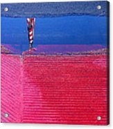 Film Noir  Angela Lansbury The Manchurian Candidate 1962 Flag Water Reflection Casa Grande Az 2005 Acrylic Print