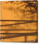 Film Noir Caught 2 1949 Shadow On Garage Door Casa Grande Arizona. 2004 Acrylic Print