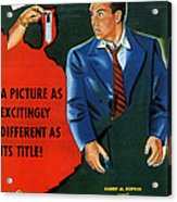 Film Noir Edmund O'brien D.o.a. 1949 Poster Color Added 2008 Acrylic Print