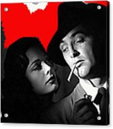 Film Noir Jane Greer Robert Mitchum Out Of The Past 1947 Rko Color Added 2012 Acrylic Print