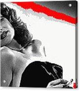 Film Noir Jean Louis Rita Hayworth Gilda 1946 Color Added 2012 Acrylic Print