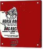 Film Noir Jim Thompson The Grifters 1990 1 Horse Dog Tracks Sign Juarez 1977 Acrylic Print