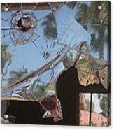 Film Noir Jim Thompson The Grifters 1990 Palm Trees Shattered Glass Casa Grande Arizona 2004 Acrylic Print