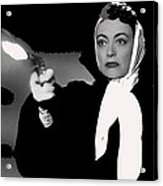 Film Noir Joan Crawford Jack Palance Sudden Fear 1952 Rko Publicity Photo Color Added 2012 Acrylic Print