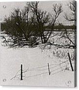 Film Noir Nicholas Ray Ida Lupino On Dangerous Ground 1952 1 Rko Radio Fence Near Aberdeen Sd 1965 Acrylic Print
