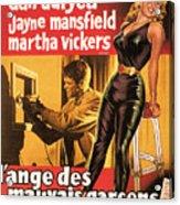 Film Noir Poster  The Burglar Jane Mansfield Acrylic Print