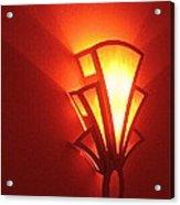 Film Noir Raymond Burr Robert Aldrich Red Light 1949 Art Deco Light Fox Tucson Theater 2006 Acrylic Print
