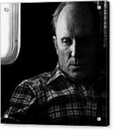 Film Noir Robert Duvall The Outfit 1973 Pursuit Of D.b. Cooper Set Trailer Tucson Arizona 1980-2008 Acrylic Print