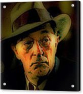 Film Noir Robert Mitchum Philip Marlowe Farewell My Lovely 1975 Publicity Photo Color Added 2013 Acrylic Print