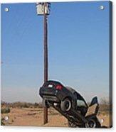 Film Noir Walter Hill Bruce Dern Ryan O'neal The Driver 1978 Car  Telephone Wire Arizona City Az Acrylic Print