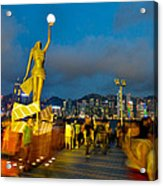 Film Statue At Avenue Of Stars Acrylic Print