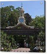 Filoli Clock Tower Garden Shop Acrylic Print