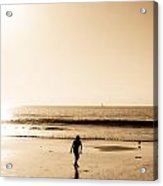 Filtered Beach Acrylic Print