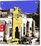 Final Days Of San Agustine Cathedral 1863-1936 Circus Poster Tucson Arizona 1936-2013 Acrylic Print