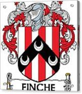 Finche Coat Of Arms Irish Acrylic Print