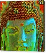 Finding Buddha - Meditation Art By Sharon Cummings Acrylic Print by Sharon Cummings