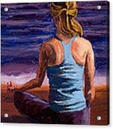 Finding Peace Sukhasana Acrylic Print by Mary Giacomini