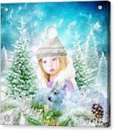 Finding Santa Acrylic Print by Mo T