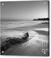Finding Serenity Bw Acrylic Print by Michael Ver Sprill