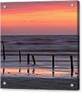 Fine Art Sunset Somerset England Acrylic Print