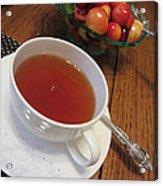 Fine Tea And Cherries Acrylic Print
