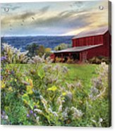 Finger Lakes Farm Acrylic Print