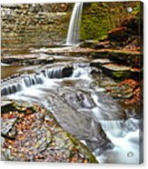 Finger Lakes Waterfall Acrylic Print