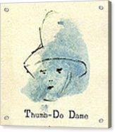 Finger Prints 1998 Forensic Whimsy Thumb-do Dame Acrylic Print