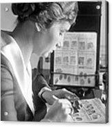 Fingerprint Analysis, 1918 Acrylic Print