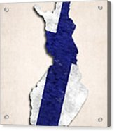 Finland Map Art With Flag Design Acrylic Print
