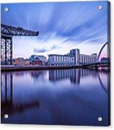 Finnieston Crane And Glasgow Arc Acrylic Print by John Farnan