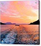 Fiord Sunset  Acrylic Print
