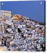 Fira Town During Dusk Time Acrylic Print