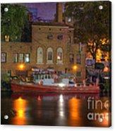Fire Boat On Cuyahoga River Acrylic Print