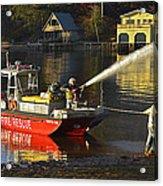Fire Boat Acrylic Print