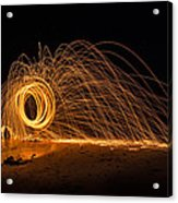 Fire Circle Acrylic Print by Tin Lung Chao