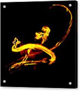 Fire Dancer 3 Acrylic Print