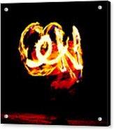 Fire Dancer 4 Acrylic Print